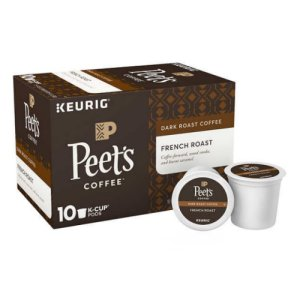 Peet's French Roast 120 Single Cups with Free Shipping