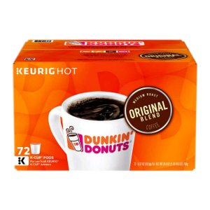 Dunkin Donuts Original Blend Coffee 72 K-Cups