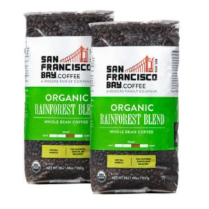 San Francisco Bay Organic RainForest Blend Whole Bean Coffee 4 Lbs
